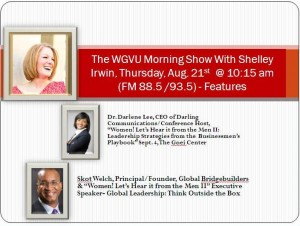 Dr. Darlene Lee and Skot Welch The WGVU Morning Show Aug. 21 2014