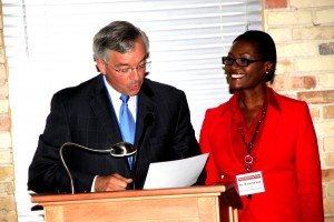 Mayor George Heartwell Provided Dr. Lee with Proclamation for Her Work, Sept. 4 3014 2
